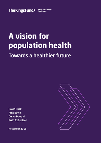A vision for population health: Towards a healthier future