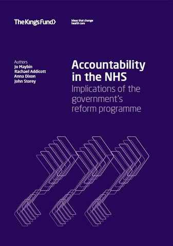 Accountability in the NHS