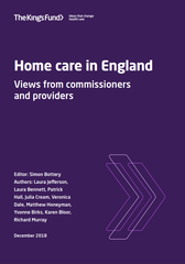 Home care in England: views from commissioners and providers