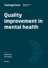 Quality improvement in mental health