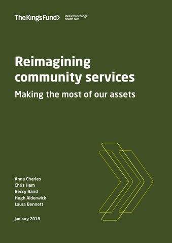 Reimagining community services: making the most of our assets