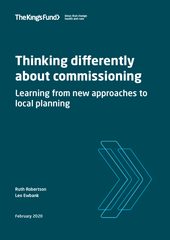 Thinking differently about commissioning report