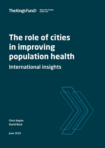 The role of cities in improving population health: international insights