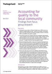 Accounting for quality to the local community