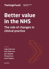 Better value in the NHS