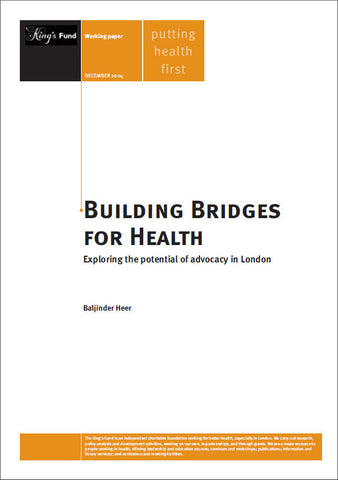 Building Bridges for Health