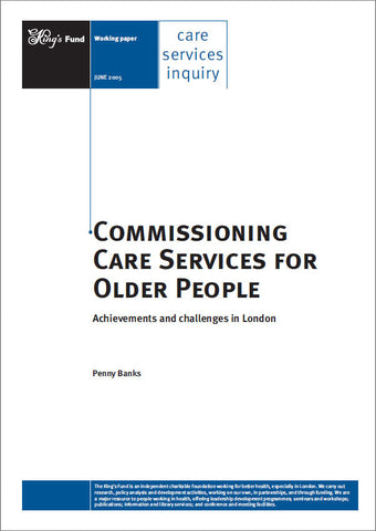 Commissioning Care Services for Older People