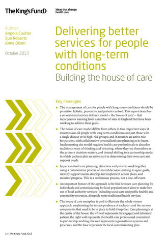 Delivering better services for people with long-term conditions