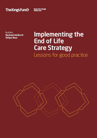 Implementing the End of Life Care Strategy