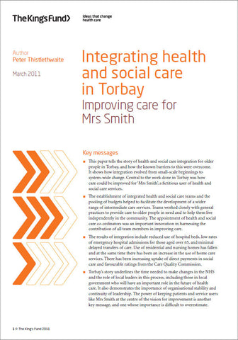 Integrating health and social care in Torbay