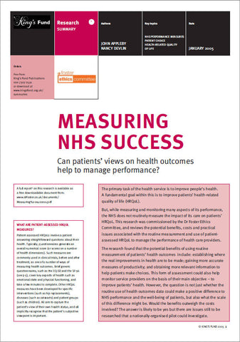 Measuring NHS Success