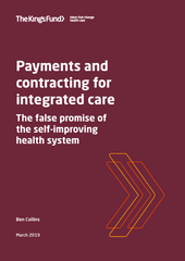 Payments and contracting for integrated care