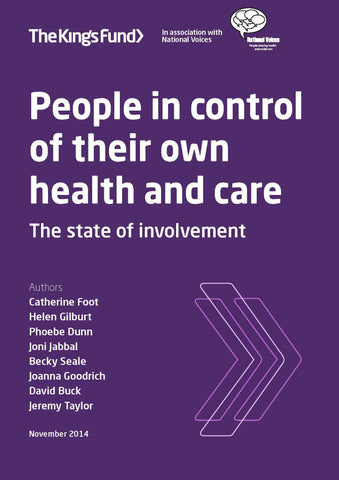 People in control of their own health and care: the state of involvement