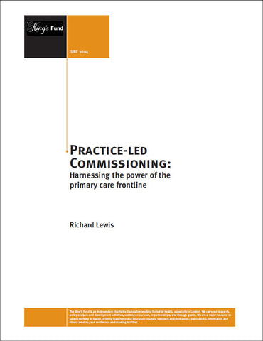 Practice-led Commissioning