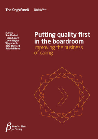 Putting quality first in the boardroom