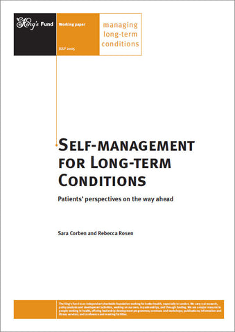 Self-management for Long-term Conditions