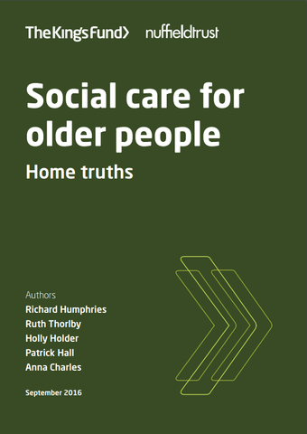 Social care for older people: home truths