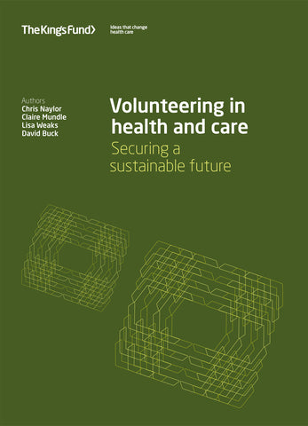 Volunteering in health and care