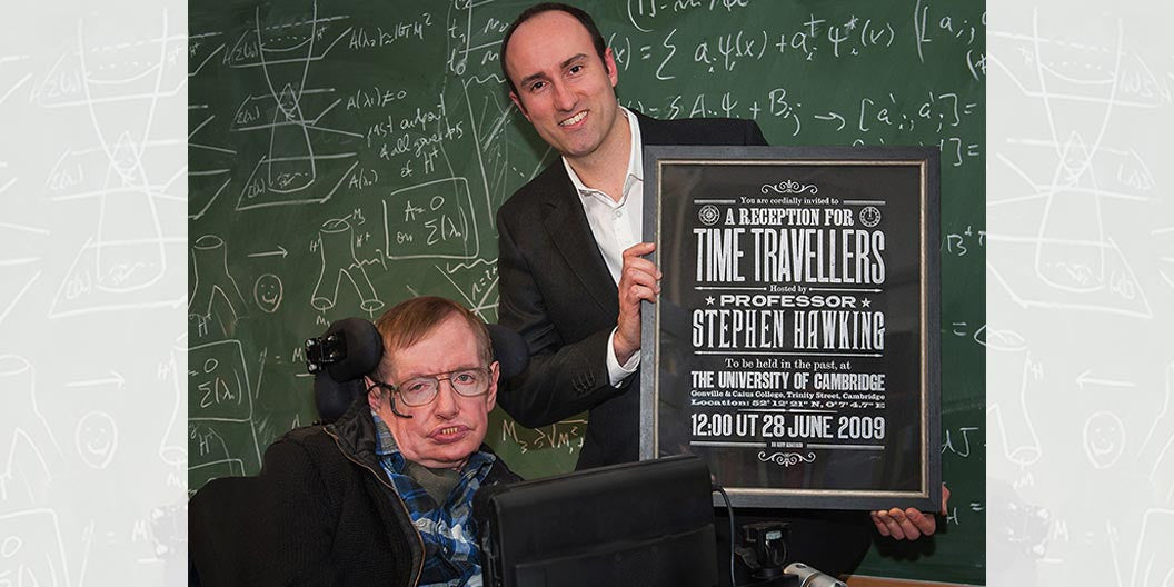 Stephen Hawking receives his own copy of our limited edition print