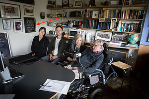 Stephen Hawking displays our print in his office