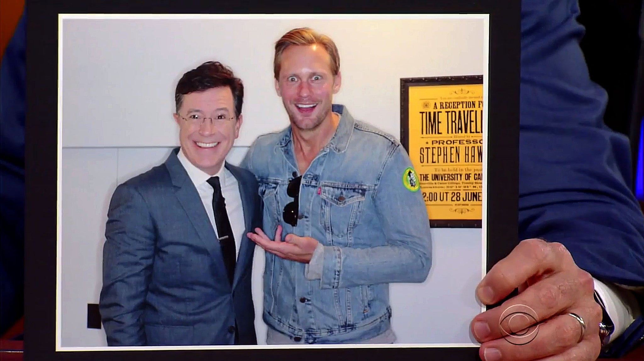 Our Time Travellers Invitation Poster features on The Late Show with Stephen Colbert!
