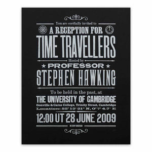 Stephen Hawking's Time Travellers Invitation: Limited Edition Print (black)