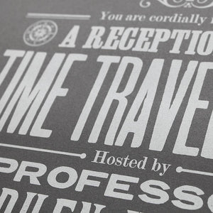 Stephen Hawkings Time Travel Experiment poster, open edition detail