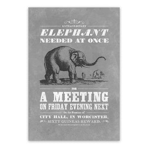 Elephant Needed at Once: A 'Vintage Mashups' Open Edition Print