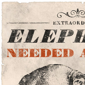 Vintage Mashups Print: Elephant Needed at Once – detail 3