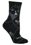 Australian Cattle Dog Crew Socks on Black