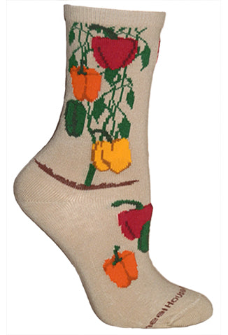 Peppers Crew Socks on Khaki