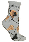 Brussels Griffon Crew Socks on Gray