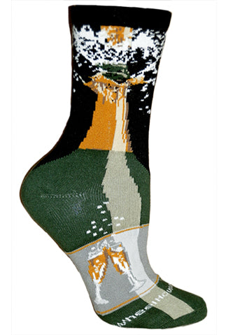 Champagne Bottle Crew Socks