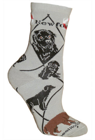 Newfoundland Crew Socks on Gray