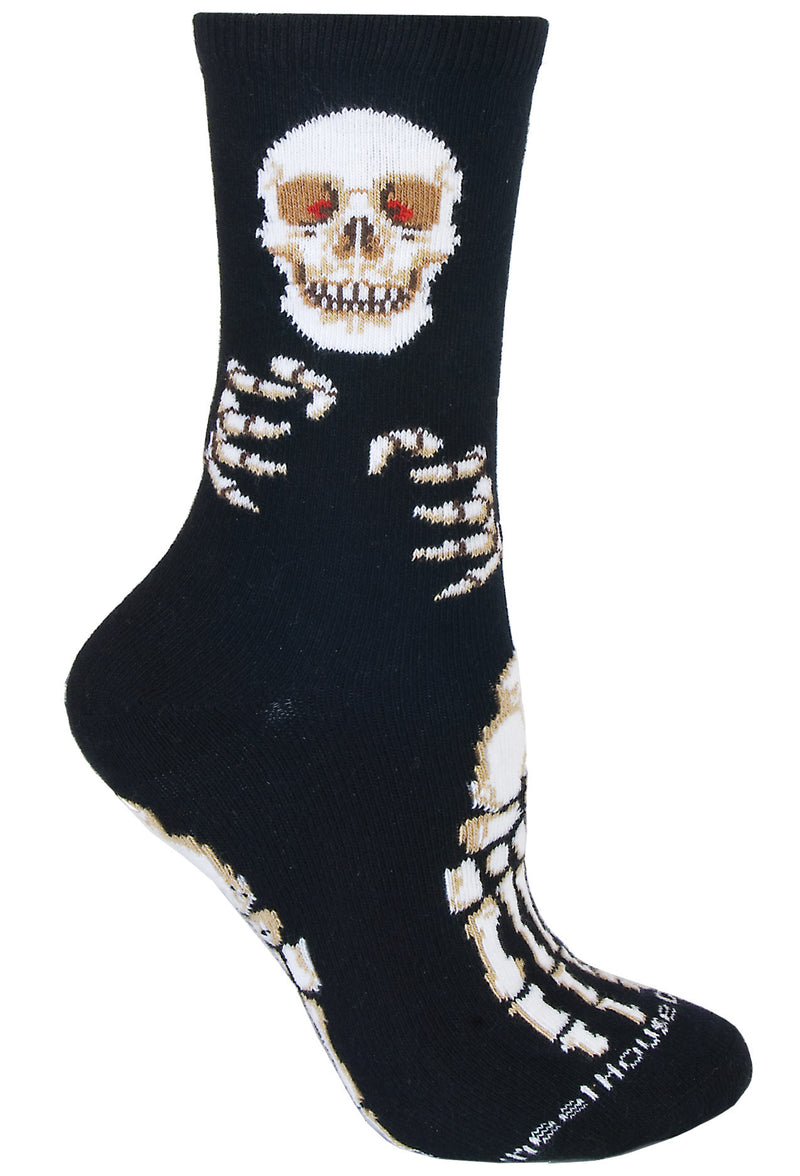 Skeleton on Black Socks