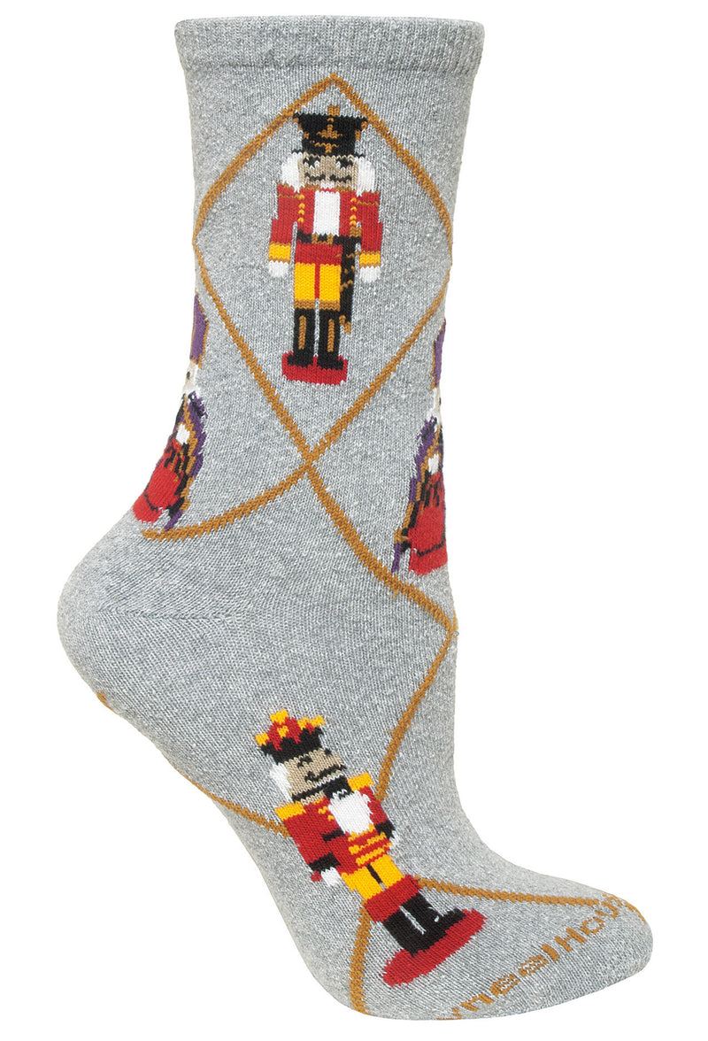Nutcracker Crew Socks on Gray