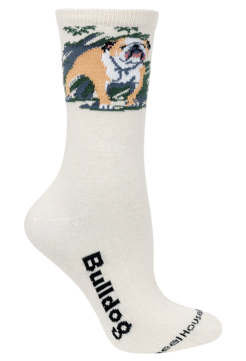 Bulldog Crew Socks on Natural