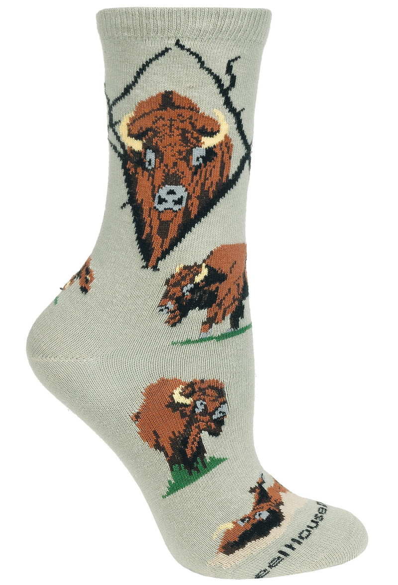 Buffalo Crew Socks on Stone