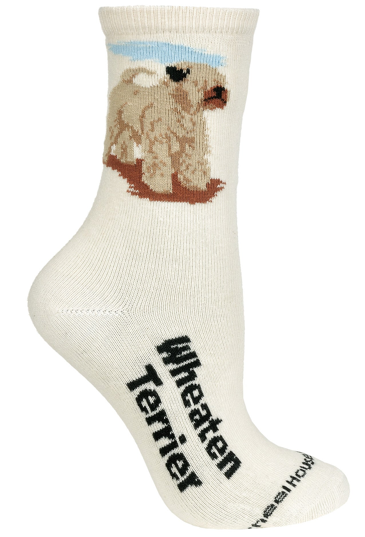 Wheaten on Natural Socks