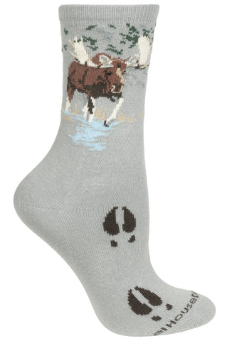 Moose on Gray Socks