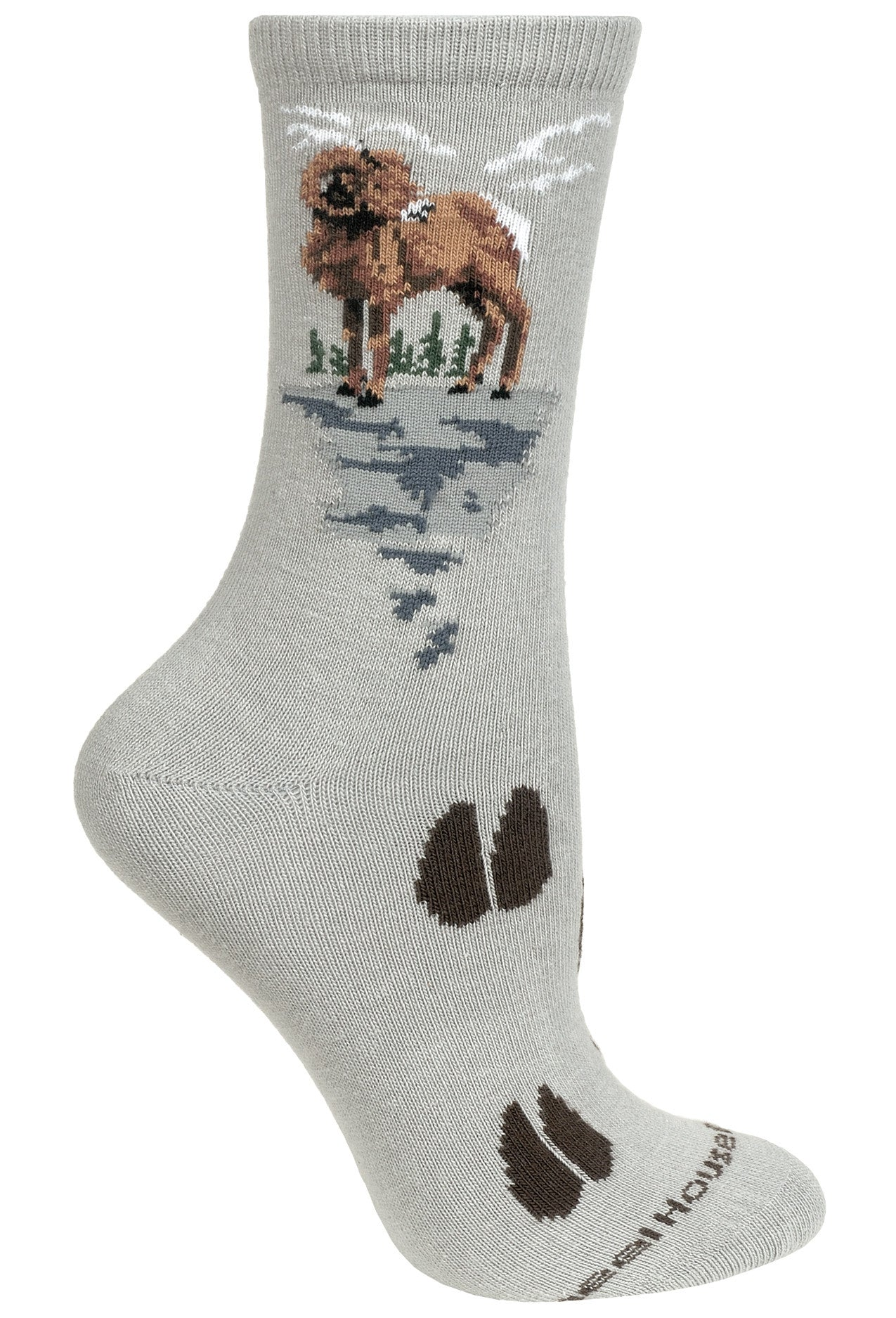 Bighorn Sheep on Gray Socks