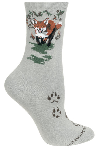 Fox on Gray Socks
