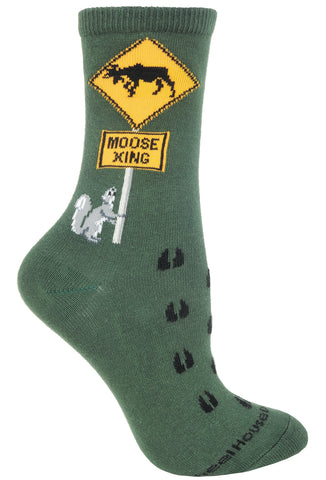 Moose Xing on Hunter Socks