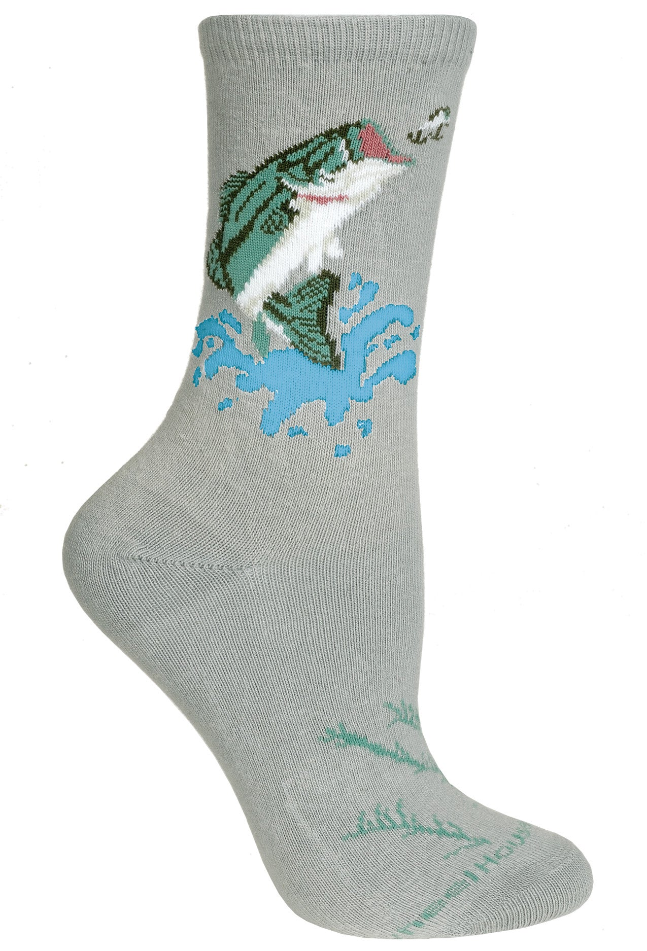 Bass Crew Socks on Gray