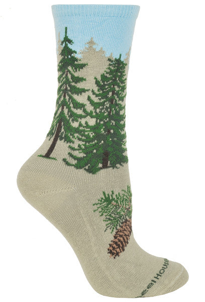 Pine Tree on Stone Crew Socks