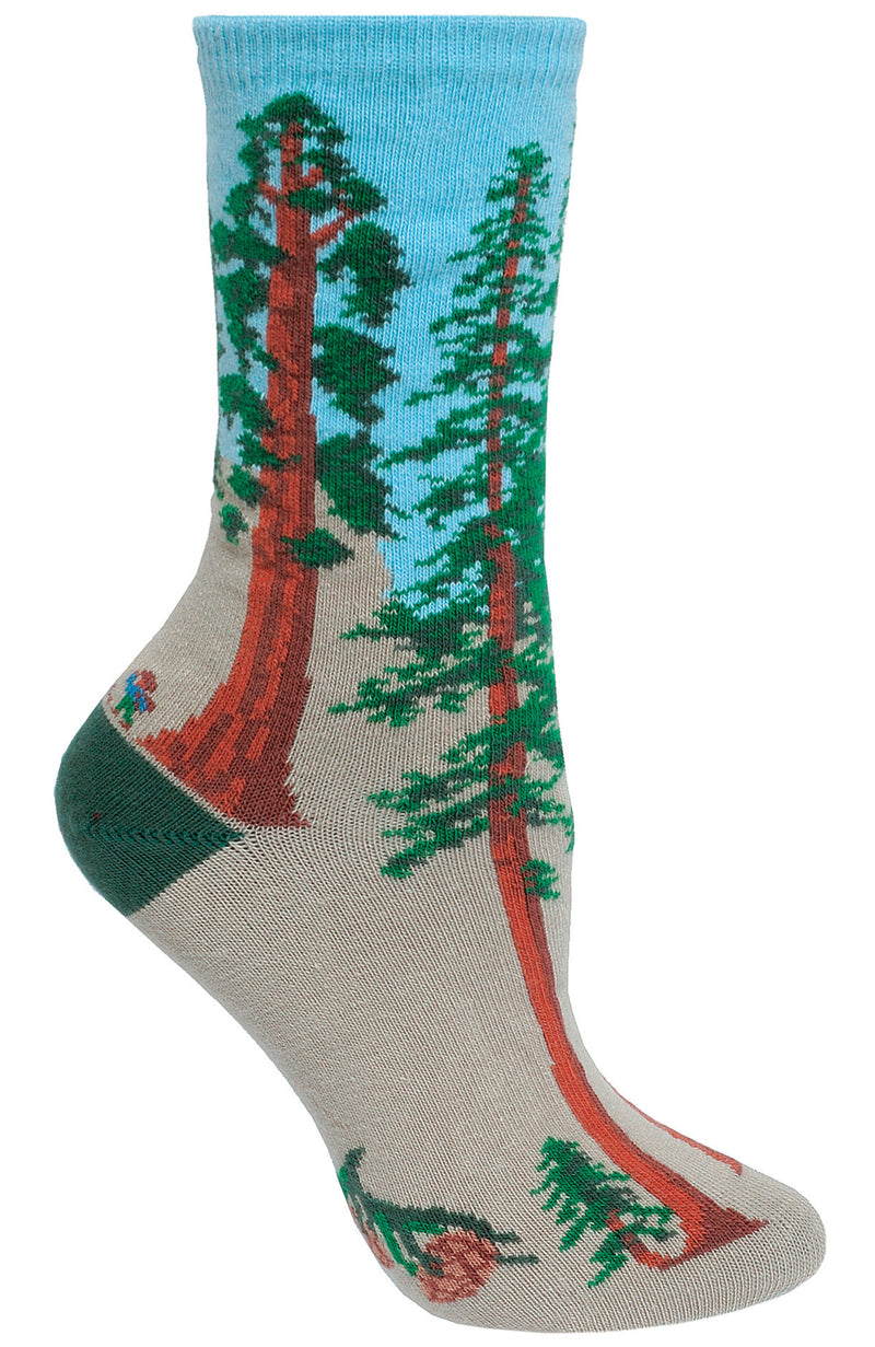 Conifer Tree on Stone Crew Socks