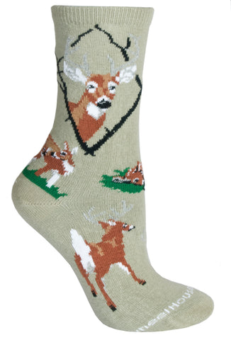 Deer, Whitetail on Stone Socks