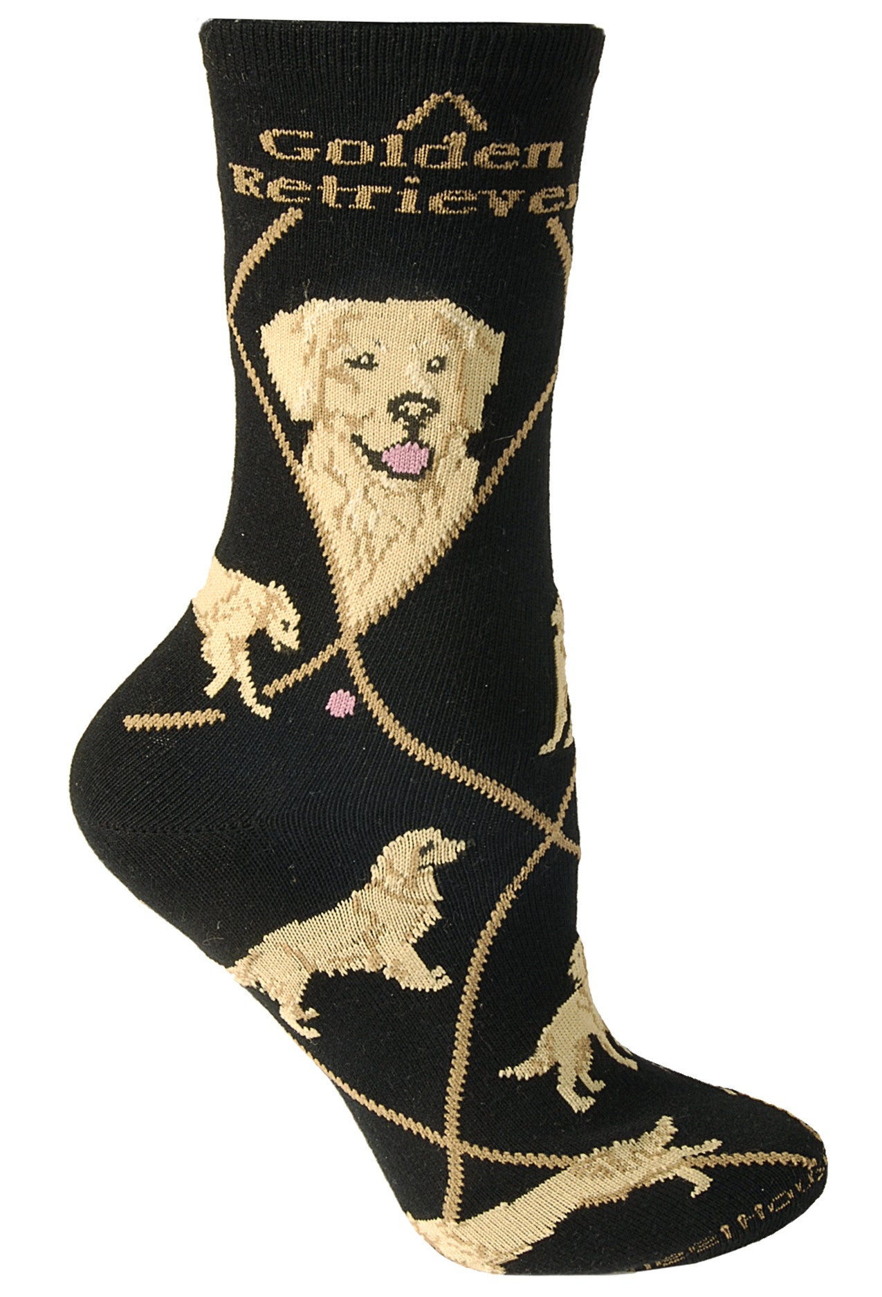 Golden Retriever on Black Socks