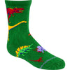 Dinosaurs Crew Socks on Green