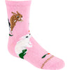 Bunnies Crew Socks on Pink